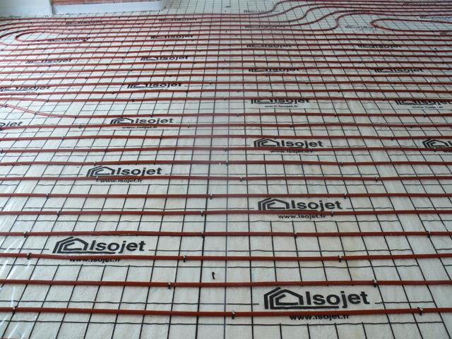 Plancher chauffant et mousse polyur thane projet e - Chape traditionnelle pour plancher chauffant ...