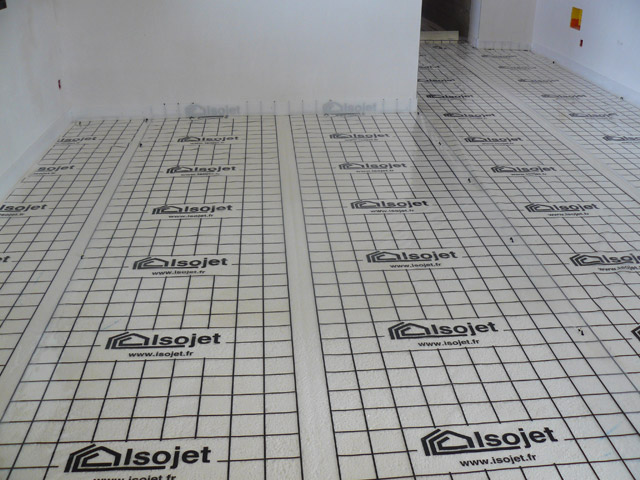 Plancher chauffant et mousse polyur thane projet e - Chape mousse polyurethane ...
